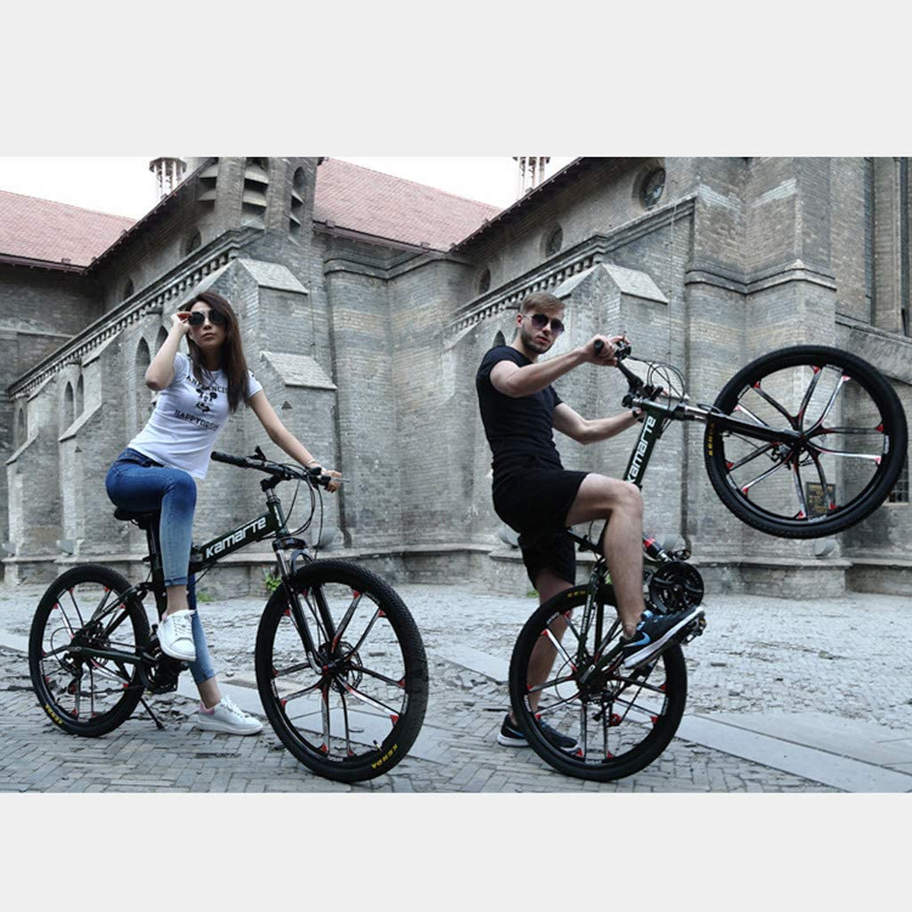 Folded Within 15 Seconds Lightweight Mini Folding Bike Small Portable Bicycle for Adult Student DMZing 24 Inch Folding Bike