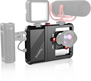 "SmallRig Smartphone Video Rig, Filmmaking Vlogging Rig Phone Video Stabilizer Aluminium Alloy Grip w 1/4"", Cold Shoe Mount..."