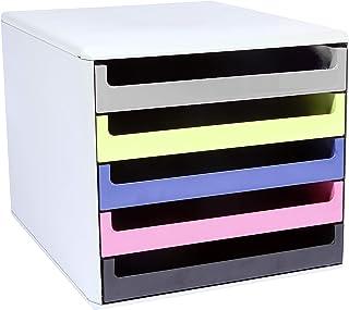 Metzger & Mendle - Boîte de rangement à 5 tiroirs Ange bleu, gris clair/couleurs assorties.