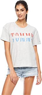 Tommy Hilfiger T-Shirts For Women, Gray L
