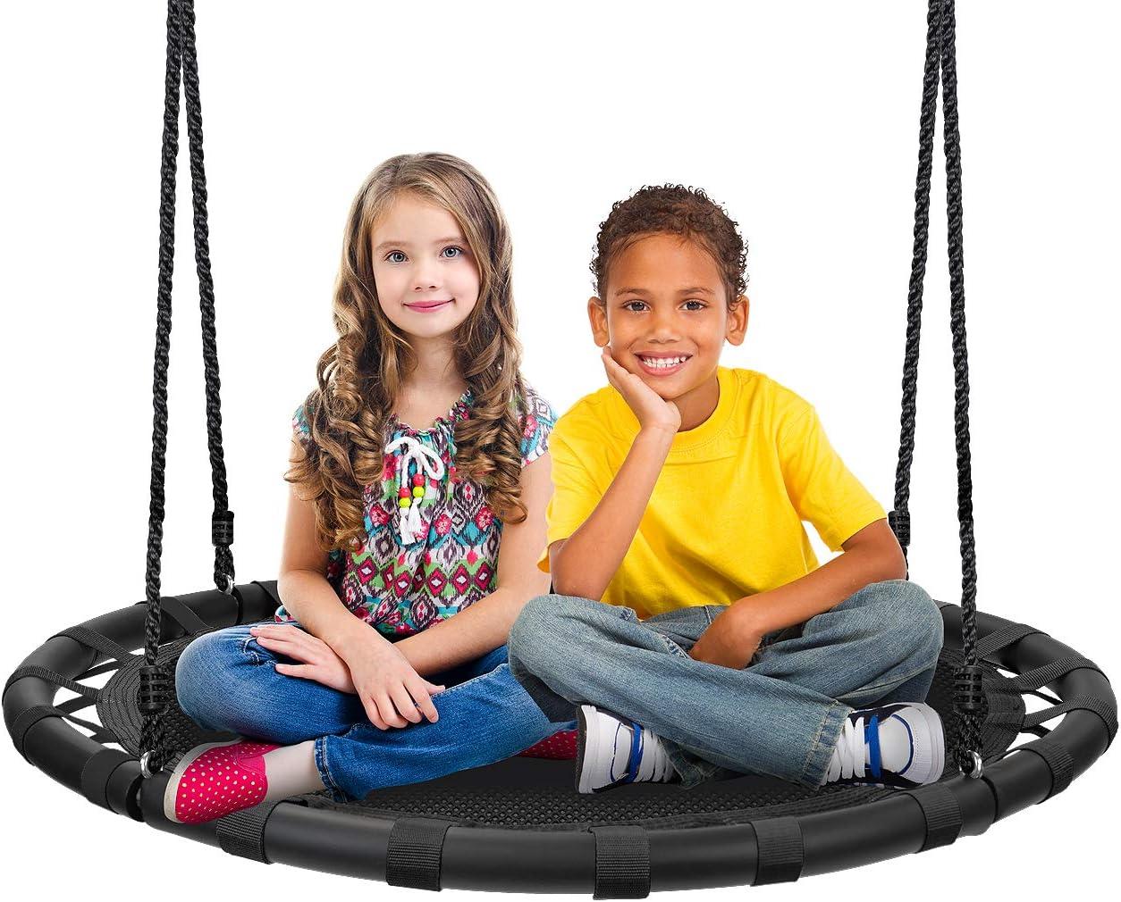 Sorbus Spinner Swing – Kids Round Mat Swing – Great fo