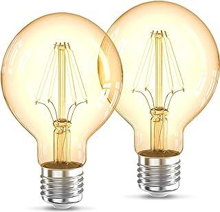 B.K.Licht I LED lampen I filament bulb I retro lamp I industrieel I 2200K I G80 Edison I vintage lichtbron I E27 I 4W I 32...