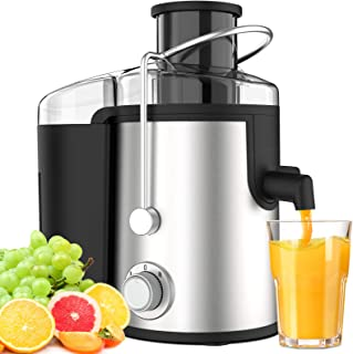 Centrifugeuse Extracteur de jus 600W Centrifugeuse Fruits et Légumes avec 2 Vitesses sans BPA ELEHOT (Argenté)