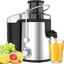 Centrifuga Frutta Verdura Professionale Due Velocità Senza BPA Acciaio Inox Leva di Sicurezza Separatore Automatico Anti-S...