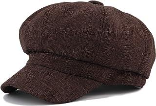 Suvimuga Damen Baskenm/ütze Barette H/üte Vintage Karierten Tweed Mesh Klassische M/ützen Cap