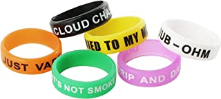 Beautiful Pack of 6 Non-Skid MOD Electronic Cigarette Silicone Vape Ring