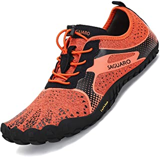 SAGUARO Hommes Femmes Antidérapant Cinq Doigts Minimalistes Chaussures de Trail Running,GR 36-46