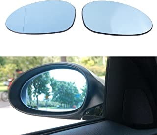 BOXATDOOR Rear Mirror Cover for BMW E82 E88 E46 E85 E90 E91 Right + Left Side Car Heated Mirror Glass