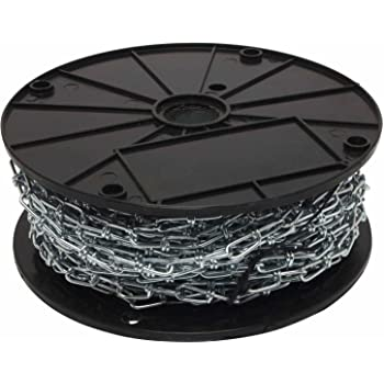 Perfection Chain Products 19003 4//0 Double Loop Chain Bright Galvanized 25 FT Carton