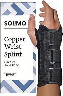 Amazon Brand - Solimo Copper Wrist Splint, Right Hand, One Size