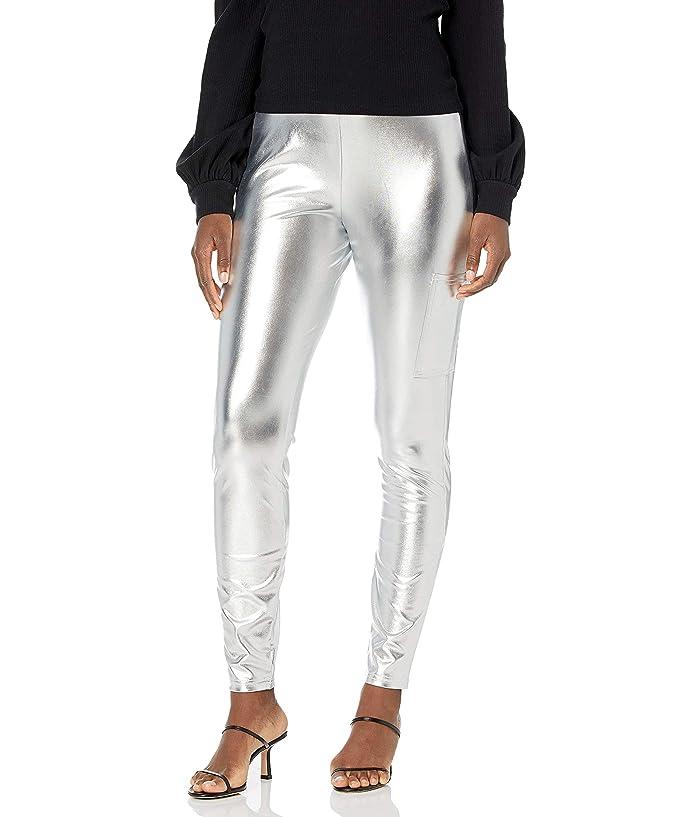 60s Pants, Jeans, Hippie, Flares, Jumpsuits KENDALL  KYLIE Phone Pocket Metallic Leggings $52.00 AT vintagedancer.com