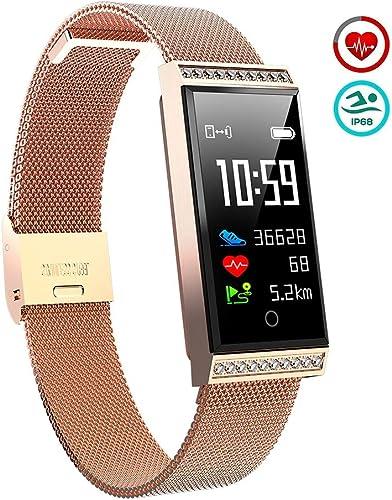 OOLIFENG Montre Intelligente Fitness Tracker, Bracelet d'Activité Imperméable avec Cardiofréquencemètre, Pédomètre Compatible avec iOS Android