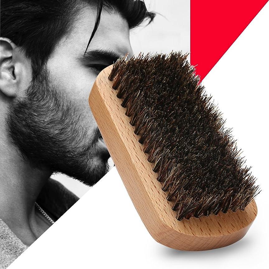 記念日フルーティー威するシェービングブラシ メンズ ウッド 豚剛毛 クリーニング 髭剃り 泡立ち 洗顔ブラシ メンズ ブラック 長方形