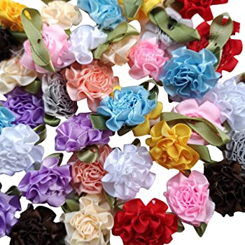 Flowers Ribbon Packaging 200cm Organza Wired Printing Ornment Home Ribbons LS