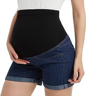 Maternity Denim Shorts Cotton Lounge Over Bump Pregnancy Shorts Summer Linen Pants