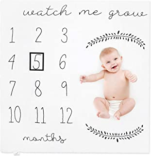 Celebraby – Premium Monthly Baby Milestone Blanket - Personalized Photography Background Blankets for Newborn Boy & Girl. Soft Bamboo, Safe & Breathable - Month Marker, Blankets, Baby Shower Gift Box