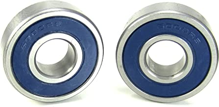 10x26x8mm Precision Ball Bearings ABEC 3 Blue Rubber Seals (2)