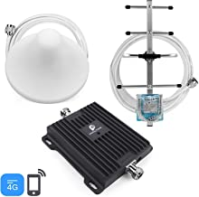 Cell Phone Signal Booster for AT&T T-Mobile 4G LTE Home Use -Boost 4G Volte Cellular Data Signal with 65dB 700MHz Band 12/17 Repeater Amplifier Kit Ceiling/Yagi Antennas Up to 4,500Sq Ft