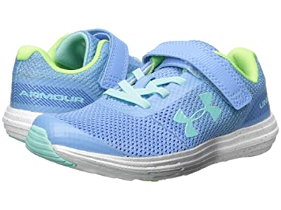 Under Armour Kids UA GPS Surge RN Prism AC (Little Kid) (Carolina Blue/Metallic Silver/Mermaid) Girls Shoes