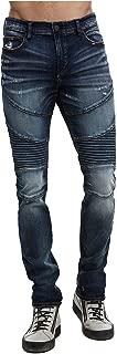 True Religion Men's Moto Rocco Skinny Fit Stretch Jeans in Mineral Asphalt