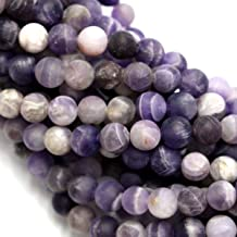 Natural Color Genuine Unpolished Matte Amethyst Round Real Gemstones Loose Beads for Jewerly Bracelet Making (6mm)