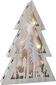 Small Foot 10200Navidad iluminación, madera, color blanco, 33.00X 6,50X 48,00cm