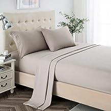 طقم ملاءات Twin XL، ملاءات من الألياف الدقيقة الناعمة ذات الجيب العميق 2400 خيط، ملاءات لسكن الكلية، 3 قطع من أغطية السرير...