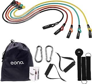 comprar comparacion Eono by Amazon - Banda Elástica Bandas de Resistencia Resistance Bands, Resistencia de Bandas Set—5 Tubos de látex/Manijas...