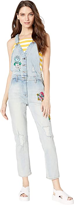 Tattoo Patch Denim Overall