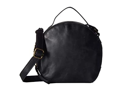 Lucky Brand Yucca Circle Crossbody (Black) Cross Body Handbags
