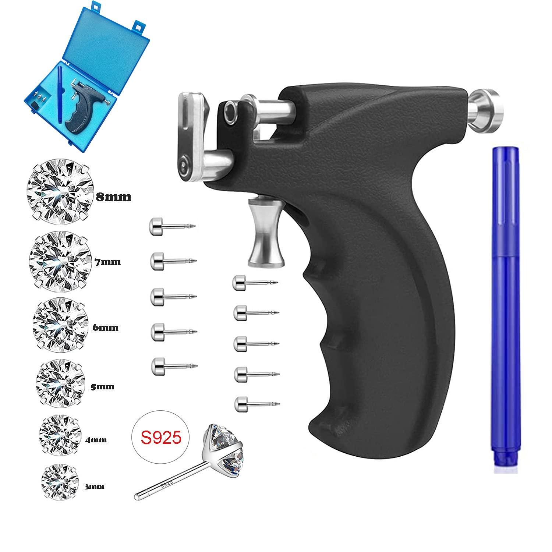 Reusable Ear Piercing Gun Kit Max 85% OFF Earrin Professional Nose Lip Price reduction Body