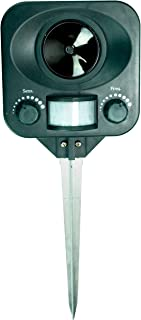 Bird-X Solar Yard Gard Electronic Animal Repeller keeps unwanted pests out of your yard with ultrasonic sound-waves