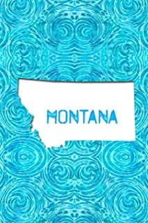 Montana: 6x9 lined journal: The Great State of Montana USA: Big Sky Country