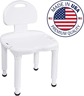 Medical Spa Bathtub Adjustable Shower Chair Seat Bench (Easy Tool-Free Assembly, No Screws)
