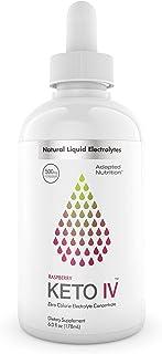 Keto IV Electrolyte Drops + High Potassium | No Leak Dropper Bottle | 500mg Potassium + Magnesium, Sodium & Zinc | Hint of...
