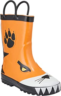 Lilly of New York Kids Boys and Girls Waterproof Rubber Rainboot with Handles (Toddler and Little Kid)