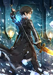 Dreamawsl Tin Sign Wall - Sword Art Online :ALfheim Online ALO Shadow elf Kirito Unique Skill Second Knife Fairy Kingdom - Anime Poster 18 x 12 in (45cmx30cm)
