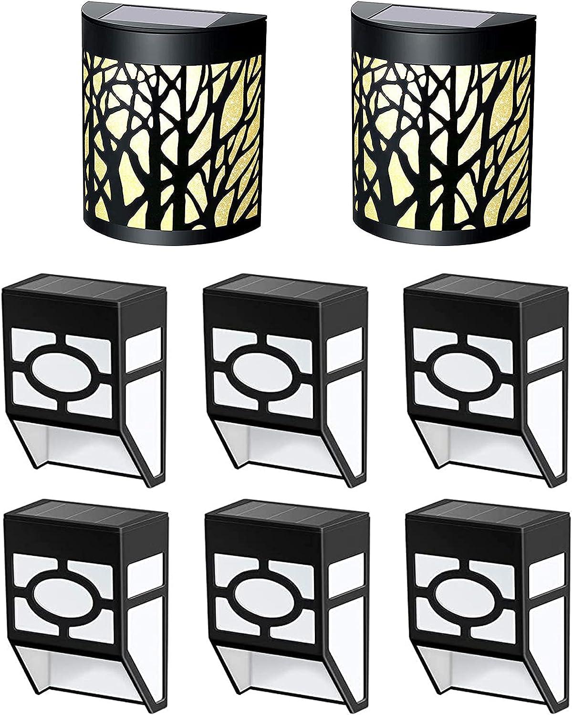 Solar Wall Lights 2 Bargain sale Boston Mall Deck 6 Pack +