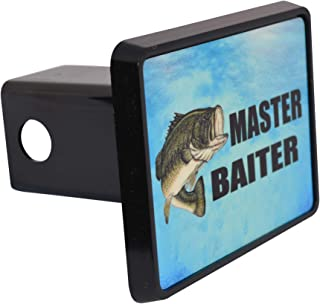 Rogue River Tactical Funny Fishing Master Baiter Trailer Hitch Cover Plug Fish Bass Gift for Fisherman