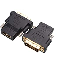 Sponsored Ad - Cable Matters 2-Pack HDMI to DVI Adapter (DVI to HDMI Adapter)