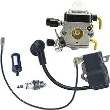 Savior FS85 Carburetor Ignition Coil + Spark Plug for Stihl FS80 Carburetor FS75 FS85 FC85 HT70 HS75 HL75 HT75 HS80 KM85 Trimmer Zama C1Q-S97 C1Q-S186 Carb 41371200614
