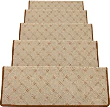 HAIPENG Non Slip Stair Carpet Treads Pads Rectangle Self Adhesive Step Mat Staircase Rugs Home, 5 Sizes, 4 Colors (Color :...