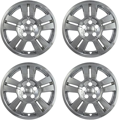 17 inch Hubcap Wheel Skins for Ford Edge-(Set of 4) Wheel Covers- Car Accessories for 17inch Chrome Wheels- Auto Tire Replacement Exterior Cap Cover