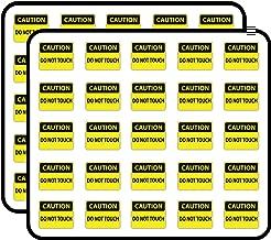 Caution Do Not Touch Sign Warning Sticker for Scrapbooking, Calendars, Arts, Kids DIY Crafts, Album, Bullet Journals 50 Pack