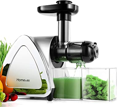 Juicer Machines, Homever Slow Masticating Juicer Extractor Easy to Clean, Cold Press Juicer for All Fruit and Vegetable,BPA-F