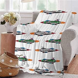 KFUTMD Summer Comforter Blanket Collection of Jet Planes Aviation Attack Modern Technology United Kingdom Model Multicolor Bedroom Dorm Sofa Baby Cot Beach W60 xL80