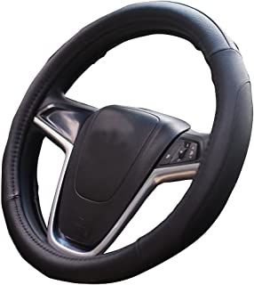 Mayco Bell Coche Fundas Para Volante 38cm cubierta del volante Seguridad (Negro)