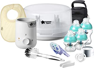Tommee Tippee Advanced Anti-Colic Baby Bottle Complete Feeding & Gift Set, White