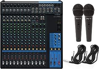 Yamaha MG16 16 Input 6 Bus Mixer w/Compression, Rack Kit, (2) Microphones, and