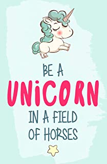 Damdekoli Be A Unicorn Poster, 11x17 Inches, Girls, Motivational Birthday Inspiration Teen Kids Room Wall Art Print